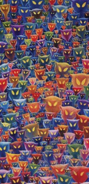 """""""A Plethora of Cats"""" Serigraph on Canvas by Dr. Seuss"""