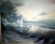 """Untitled"" (Seascape) Original by Loren D. Adams"