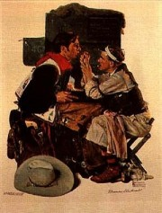 """The Texan"" Collotype by Norman Rockwell"