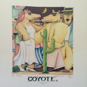 """Coyote"" Lithograph by Marcus Pierson"