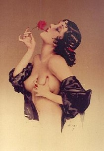 """Memories of Olive"" Deluxe Edition Serigraph on Arches Paper by Alberto Vargas"