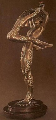 """Amants"" Bronze Sculpture by Erte"