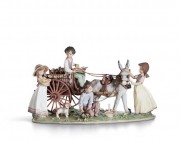 """Enchanted Outing"" Glazed Porcelain by Llardro"