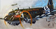 """Special Delivery"" Douglas C47B Skytrain Original on Aluminum by Michael Bryan"