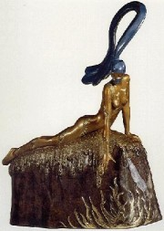 """French Rooster"" Bronze Sculpture by Erte"