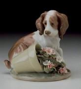 """""""It Wasn't Me"""" Glazed Porcelain Figurine by Llardro"""