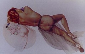 """World War II"" Lithograph/Opalesque by Alberto Vargas"
