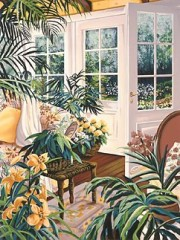 """Morning Garden"" Serigraph by Susan Rios"