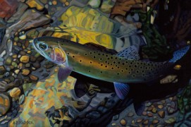 """""""Bear River Cutthroat"""" Giclee on Canvas by A D Maddox"""