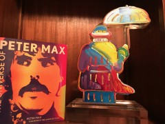 Umbrella Man Version III, #50 unique acrylic sculpture by Peter Max