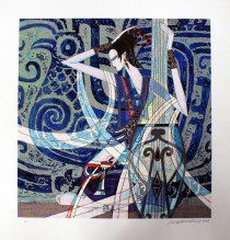 """""""Sun of Phoenix"""" Serigraph by Ting Shao Kuang"""