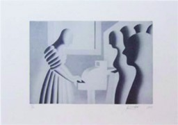 """Kryptonite"" AP Serigraph on Deckled Paper by Mark Kostabi"