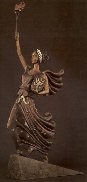 """""""Liberty Fearless and Free"""" bronze sculpture by Erte"""