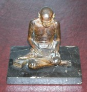 """Ghandi"" bronze sculpture by Clayton Robbins"
