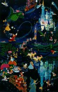 """Tokyo Disneyland 10th Anniversary"" Serigraph by Melanie Taylor Kent"