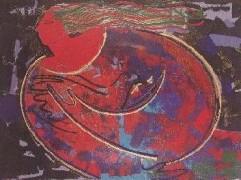 """Paz"" Original Embellished Multiple Print by Orlando, AB"