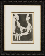 """Sculpteur au Travail from Sable Mouvant"" 1964 Etching and Aquatint on Japon, by Pablo Picasso"