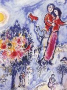 """Entre l'hiver et le Printemps"", Estate-Signed Lithograph by Marc Chagall"