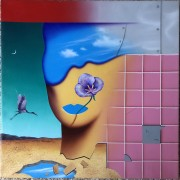 """Tiger Purple"" (PT. 1) Original Acrylic on Canvas by Rick Garcia"