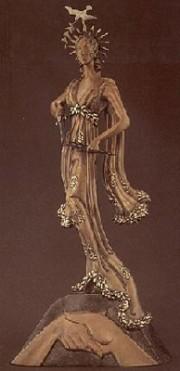 """Peace"" Bronze Sculpture by Erte"