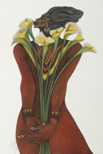 """""""Sweet Lillies"""" Serigraph on Paper by Charles Bibbs"""