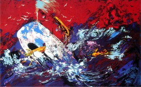 """Red Sky"" Serigraph from the Moby Dick Suite by LeRoy Neiman"