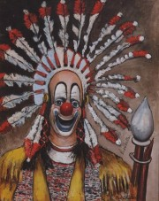 """Indian Clown"" Open Edition Lithograph by Red Skelton"