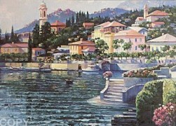 """Recollection of Lake Como"" Serigraph by Howard Behrens"