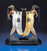 """Sisters"" Bronze Sculpture by Erte"