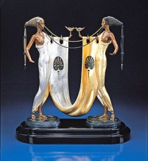 """Sisters"" Bronze Sculpture by Erte"