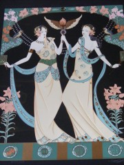 """Gemini Black""Serigraph on Paper by Lillian Shao"