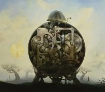 """Millennium Watchman"" Giclee on Canvas by Vladimir Kush"