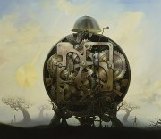 """Millennium Watchman"" Giclee on Canvas by Vladimir Kush"