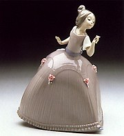 """Rose"" Glazed Porcelain Figurine by Llardro"