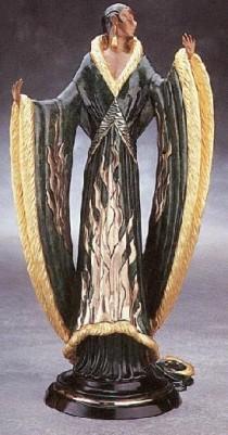"""Femme de Luxe"" Bronze Sculpture by Erte"