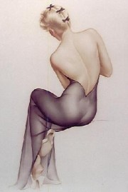 """November 1944"" Lithograph/Arches by Alberto Vargas"