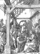 """""""The Adoration of the Magi"""" 1511 Unique Woodcut by Albrecht Durer"""