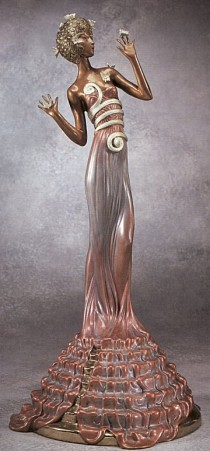 """Fantasia"" Bronze Sculpture by Erte"