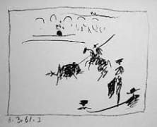 """""""Toreros: 6.3.61 I"""" 1961 Lithograph on Wove Paper by Pablo Picasso"""