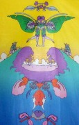 """Facing Waves (Gemeni)"" Vintage Serigraph by Peter Max"