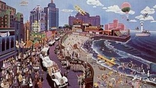 """Boardwalk Of Atlantic City"" Serigraph by Melanie Taylor Kent"