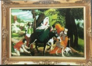 """Flight to Egypt"" Original Enamel on Copper by Max Karp"