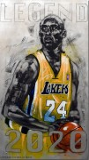 """Legend"" Kobe Bryant  - Hand-Worked Original on Aluminum by Michael Bryan"