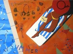 """Summer"" Original oil/Acrylic on Canvas by Rick Garcia"