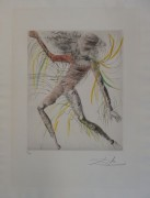 """Le Cosmonaute"" etching fron The Hippies Suite by Salvador Dali"