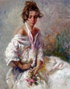 """Serenidad"" Original Oil on Canvas by Royo"