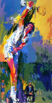 """Sun Serve"" Serigraph by LeRoy Neiman"