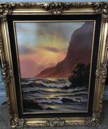 Honokaham Cove Original Oil on Masonite by Christian Riese Lassen