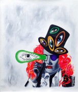 """Hatter"" Original Acrylic on Canvas by Rick Garcia"