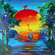 """Better World"" Retrospective Suite I Serigraph by Peter Max"